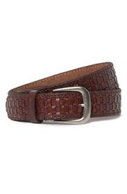 TOMMY BAHAMA Brown Woven Leather 35mm Belt