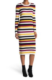BLUE ORCHID Striped Maxi Sweater Dress