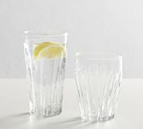 Pottery Barn Bubble Recycled Drinking Glasses