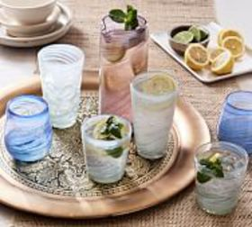 Pottery Barn Laguna Recycled Drinkware Collection on sale at Pottery Barn