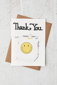 Happy Face Bag Thank You Card