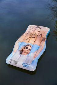 Dude With Sign Pool Float