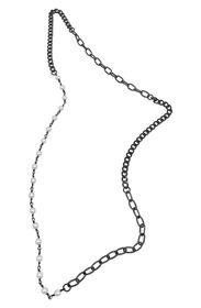ADORNIA Mixed Faux Pearl Chain Necklace