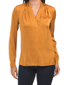 Nellie Silk And Satin Blouse