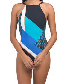 Maritime Tummy Control One-piece Swimsuit