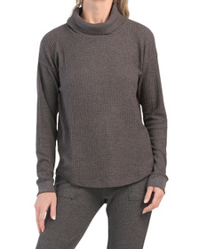 Brushed Cowl Neck Thermal Top
