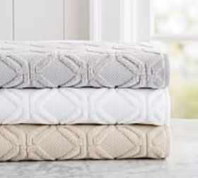 Pottery Barn Blakely Hydrocotton Sculpted Towels
