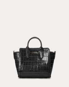 Ralph Lauren Embossed Leather Small Tyler Tote