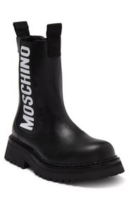 MOSCHINO Signature Leather Chelsea Boot (Women)