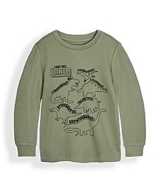 Little Boys Long Sleeve Graphic Thermal Top
