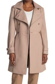 TOMMY HILFIGER Double Breasted Button Wool Coat
