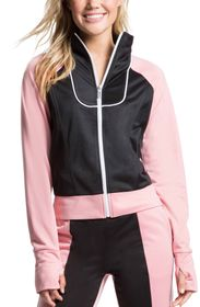 JUICY COUTURE Tricot Paneled Track Jacket w/ Rhine