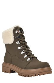 TOMMY HILFIGER Faby Faux Shearling Cuff Hiker Boot