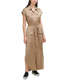 Belted Cargo Maxi Dress