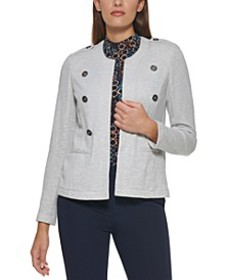 Open-Front Double-Breasted Blazer